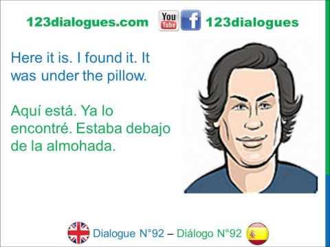Dialogue 92 - Inglés Spanish - Watching TV - Viendo la televisión