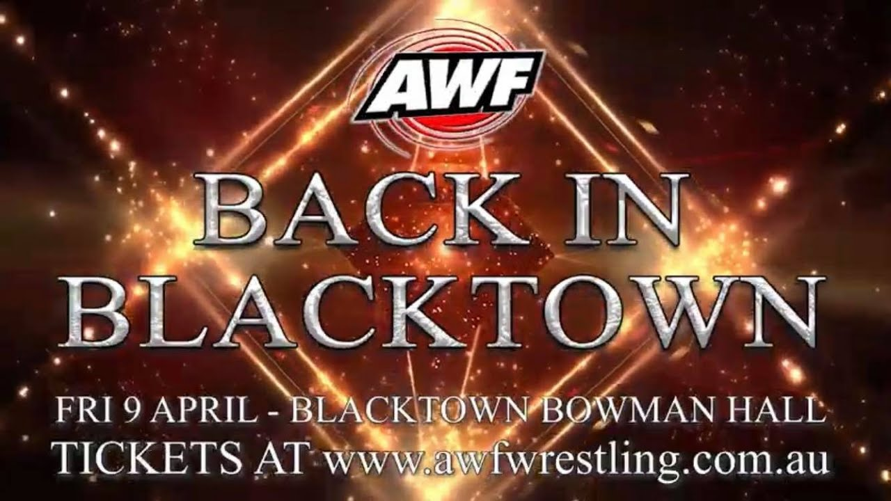 AWF Pro-Wrestling Back In Blacktown is this Friday! Book tickets at www.awfwrestling.com.au today!