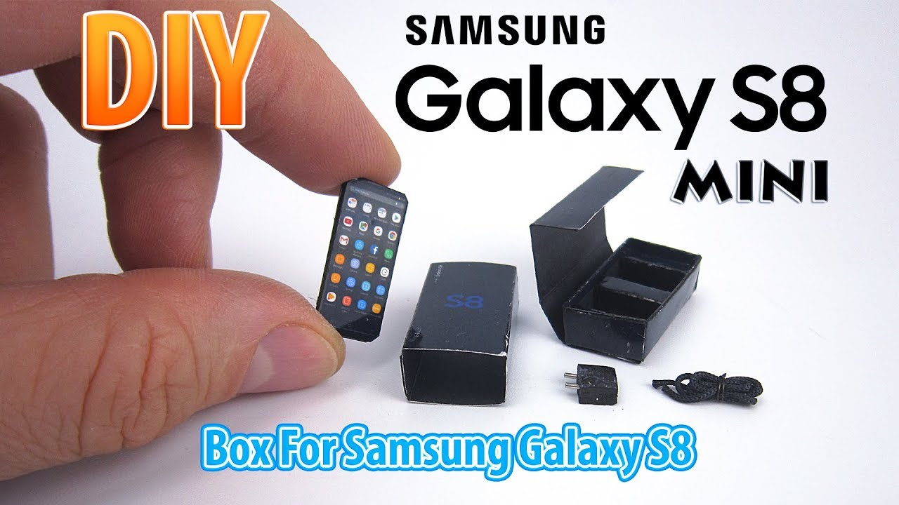 Diy Miniature Samsung Galaxy S8 Dollhouse No Polymer Clay Youtube