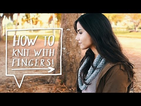 DIY Scarf | How to Finger Knit a DIY Knitted Scarf | How to Knit for Beginners! ❤ AlejandraStyles