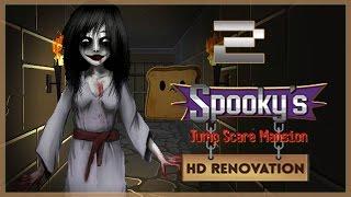 ЯПОНСКИЙ ПРИЗРАК? МНОГОНОЖКА?!  ● Spooky's Jump Scare Mansion HD Renovation #2