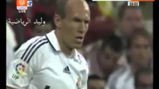 ملخص مباراة ريال مدريد 2 : 6 برشلونة موسم 2009 م تعليق عربي