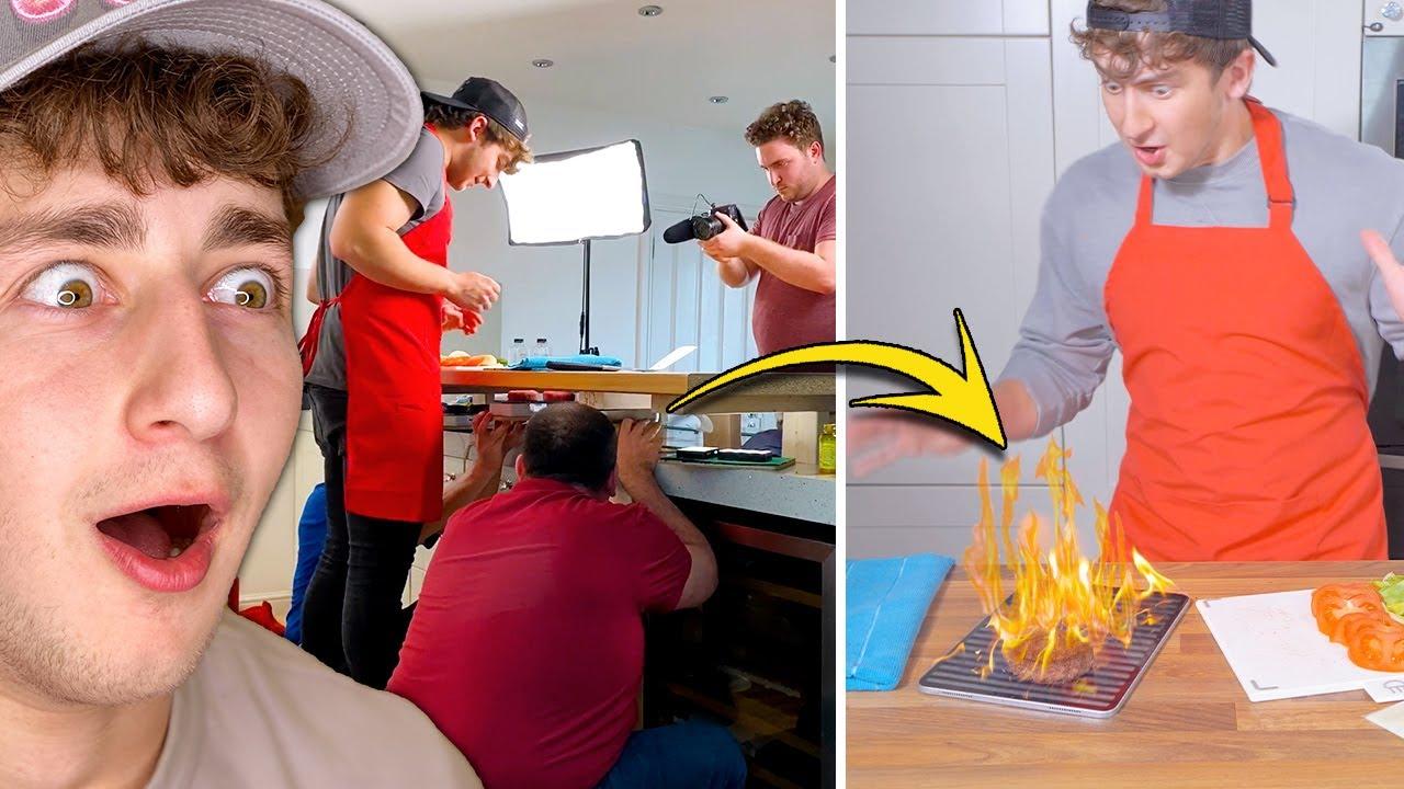 Crazy Behind The Scenes - iPad On Fire 🔥😨   Brandon Baum