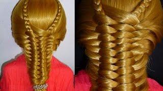 Лёгкая коса.Причёска для средних/длинных волос.Причёски в школу/на каждый день/на работу