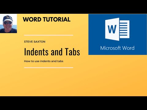 How to add tabs, use alignment and indents in Microsoft Word