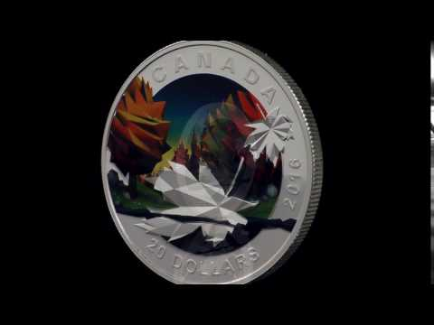 1 oz. Pure Silver Coin – Geometry in Art: The Maple Leaf