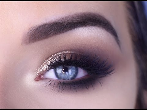 Eye Makeup Tutorial: Bronze Glitter Smokey Eye