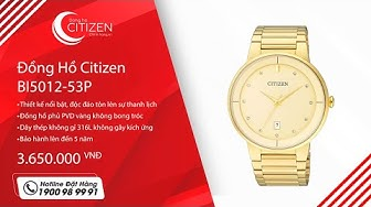 Cận Cảnh Đồng Hồ Citizen Nam Dây Kim Loại Quartz BI5012-53P