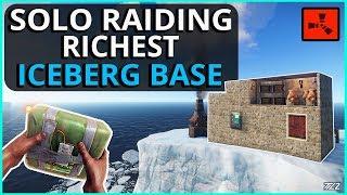 SOLO RAIDING A Super RICH ICEBERG Base!! Rust Solo Survival Gameplay Ep3