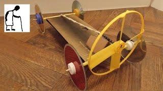 Rubber Band Powered Fan Driven Car