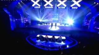 Richard and Adam Johnson BGT Finals 2013 + Simon Cowell Gets Egged By Girl