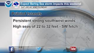 Potential for high winds and seas with developing Bering Sea storm