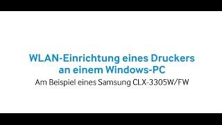 Samsung Drucker: WLAN-Einrichtung des Druckers am Windows-PC