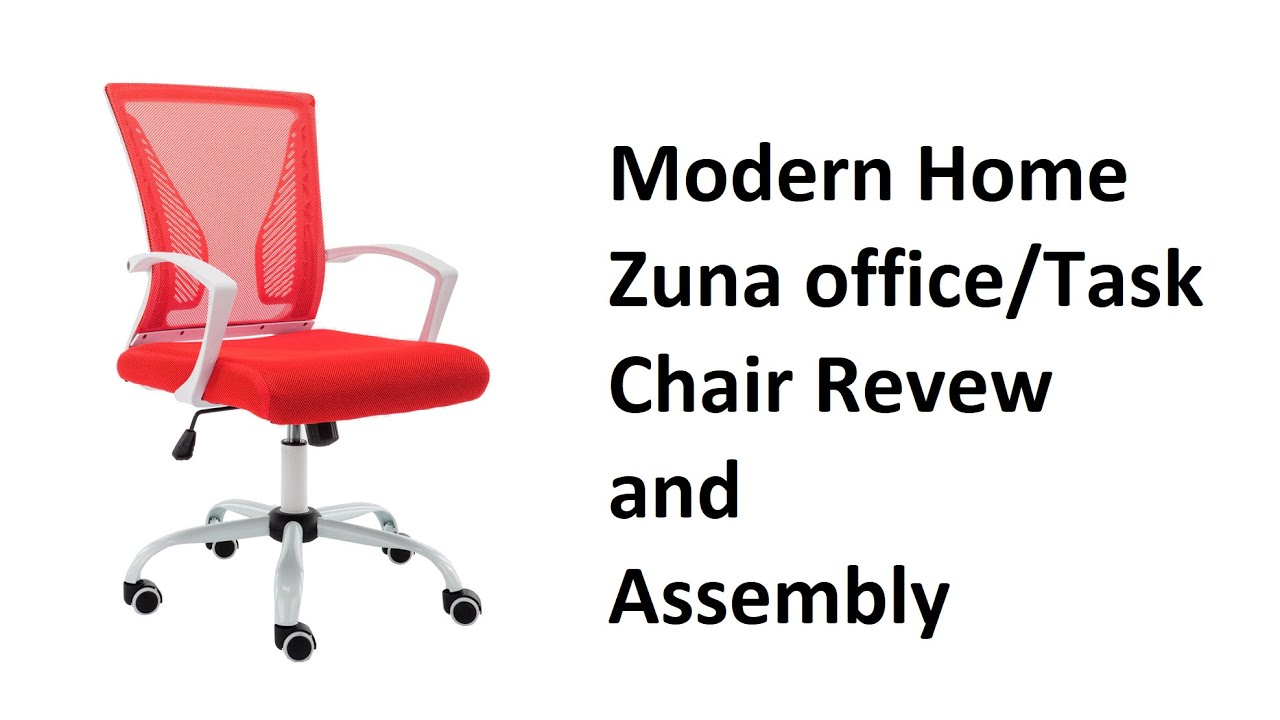 Modern Home Zuna Mid Back Office Task Chair Review Youtube