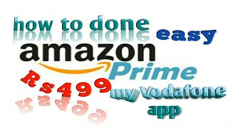 How to activate free Amazon prime via my Vodafone app, free youth offers