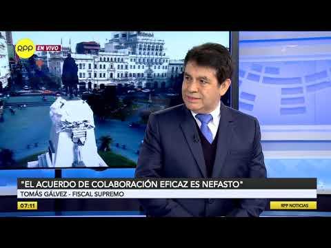 Fiscal Tomás Gálvez: 'Rafael Vela y José Domingo Pérez representan el poder en el país'