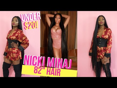 NICKI MINAJ & CARDI B INSPIRED KNEE LENGTH HAIR! UNDER $20?!