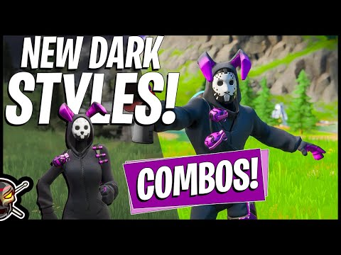 NEW Dark RABBIT RAIDER + BUNNY BRAWLER Edit Style Combos! (Fortnite Battle Royale)