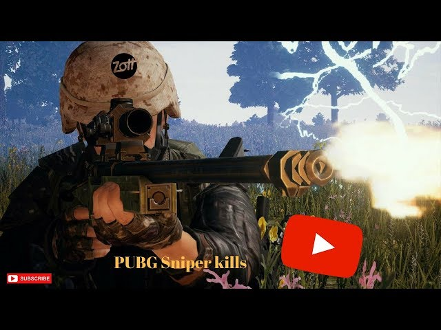PUBG only sniper kills #3