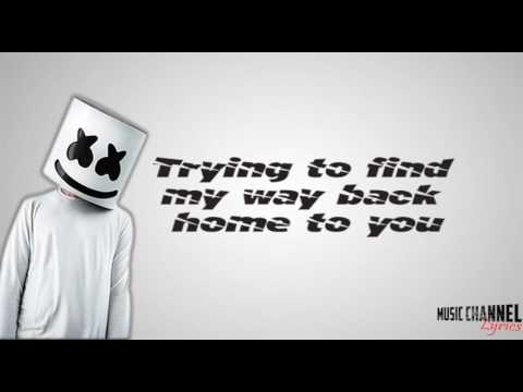 Marshmello - Alone (Lyric Video)