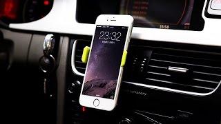 Автомобильный держатель для IPHONE, XIAOMI и др. с Aliexpress. GPS тест(, 2017-02-05T15:21:40.000Z)