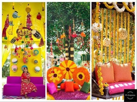 Top 30 Haldi Mehndi Function Decoration Ideas Amazing Haldi
