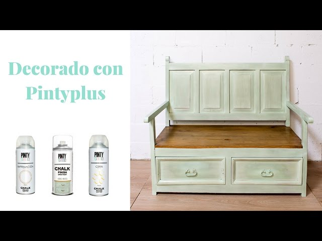 Banco de Madera Estilo Vintage con Chalk Paint en Spray