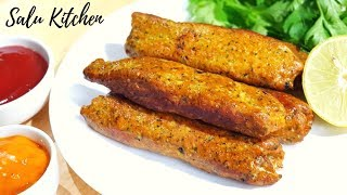 How to make Simple and Easy Chicken Kabab    Salu Kitchen
