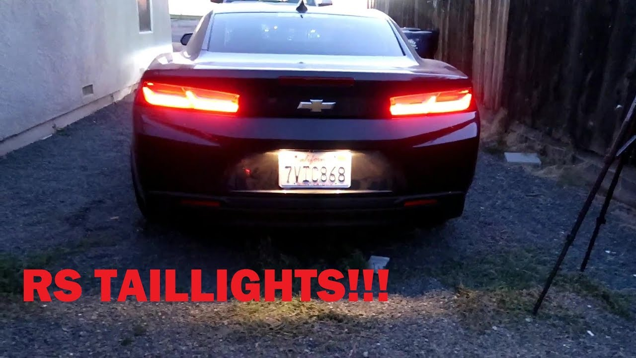 Rs Taillights Installed On A Non 2017 Camaro