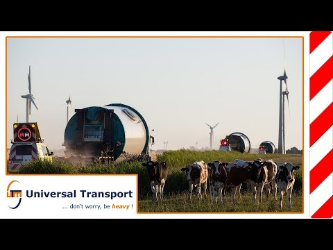 Universal Transport - by boat in the wind farm
