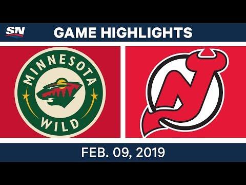 NHL Highlights | Wild vs. Devils - Feb. 9, 2019
