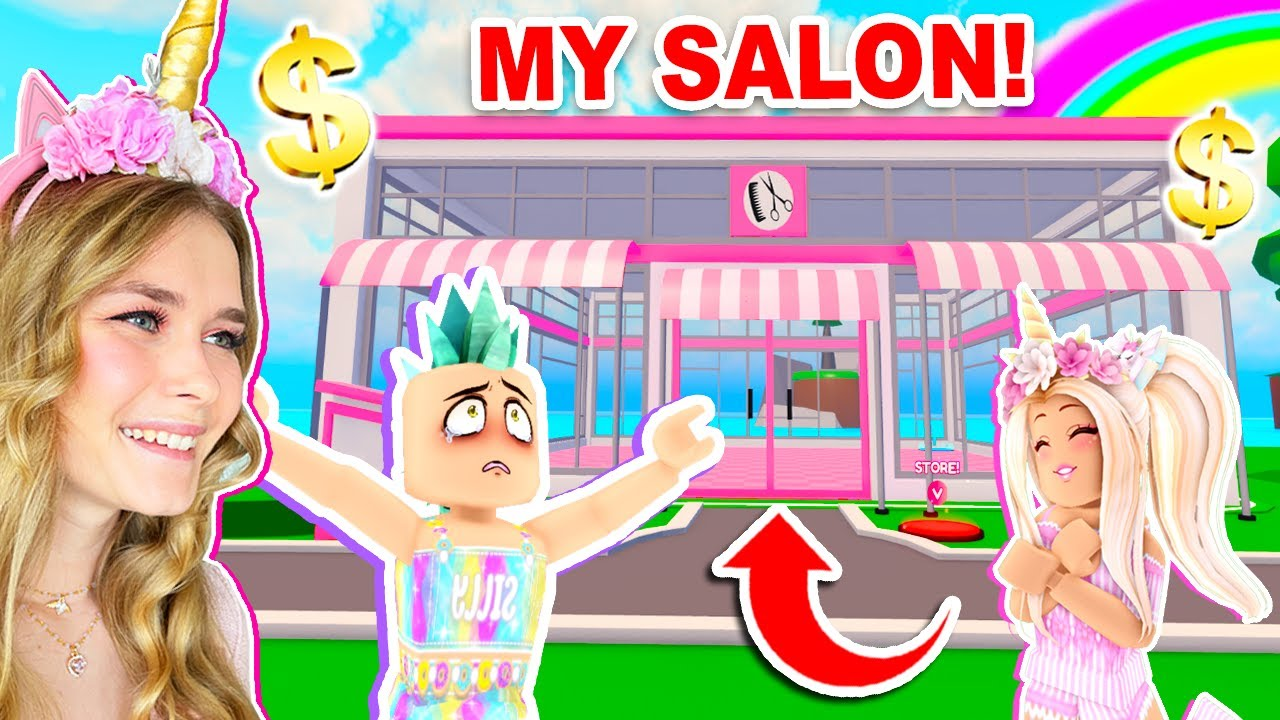 Opening MY SALON With SILLY! (Roblox)