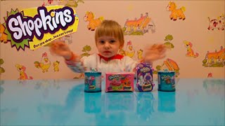 Шопкинсы 4 сезон бочонки и корзинки сюрпризы с игрушками распаковка Shopkins surprise toys unboxing