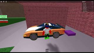 Playing own a car on Roblox