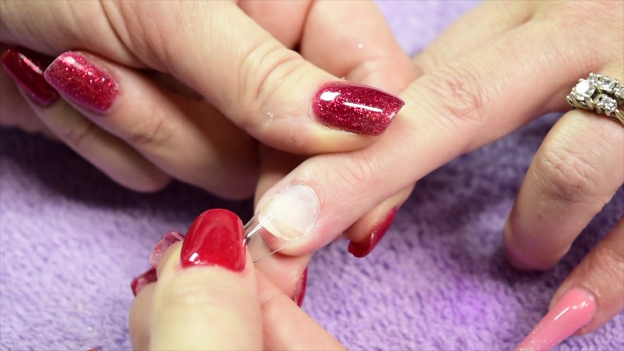 How To Apply Edge Nail Shape Tips - Demo - YouTube