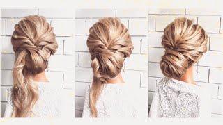 Как сделать быструю причёску Hairstyle tutorial Easy bun hairstyle