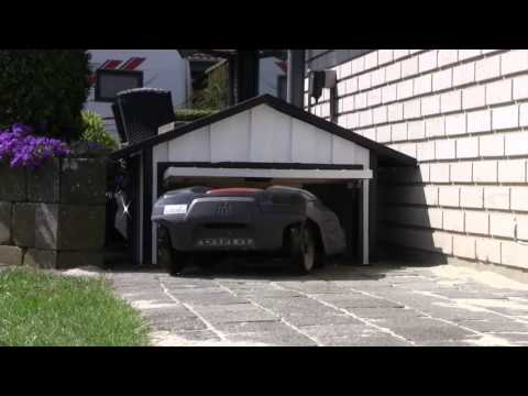 automower garage for husqvarna 310 aka videos. Black Bedroom Furniture Sets. Home Design Ideas