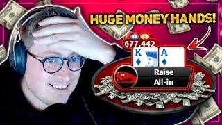 HIGH STAKES POWERFEST SUNDAY ACTION!!! PokerStaples Stream Highlights