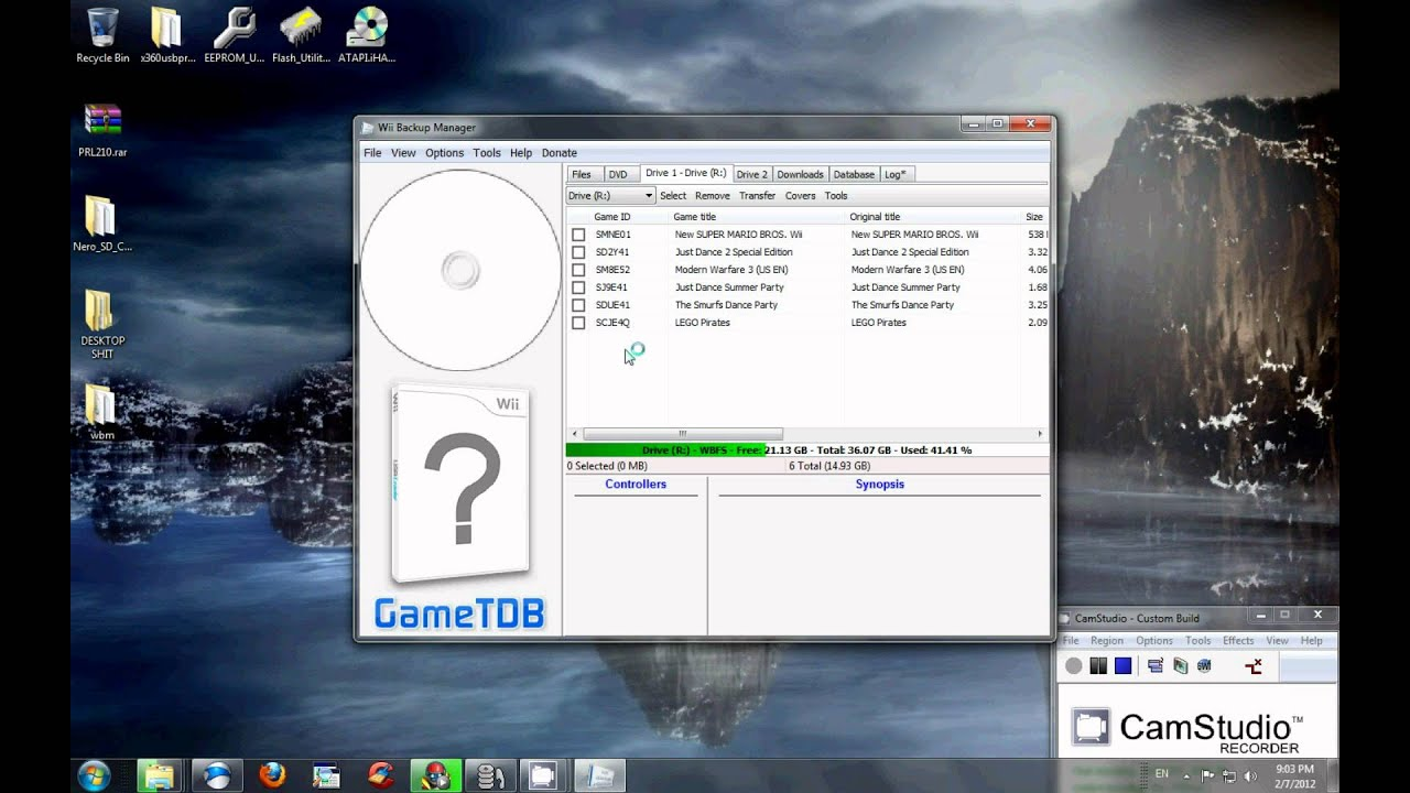 WII Backup Manager tutorial