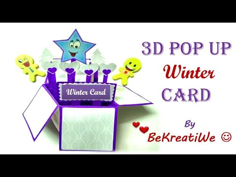 3D Pop Up Christmas Card | Handmade Greeting Ideas | DIY Love Gifts Box - By BeKreatiWe :)