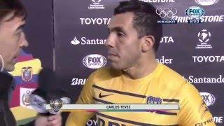 Tevez post partido - Nacional 1-1 Boca - Copa Libertadores 2016