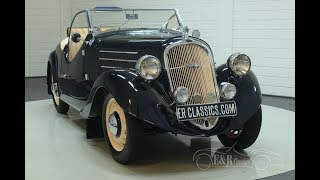 Skoda Popular II 420 Roadster 1937-VIDEO- www.ERclassics.com
