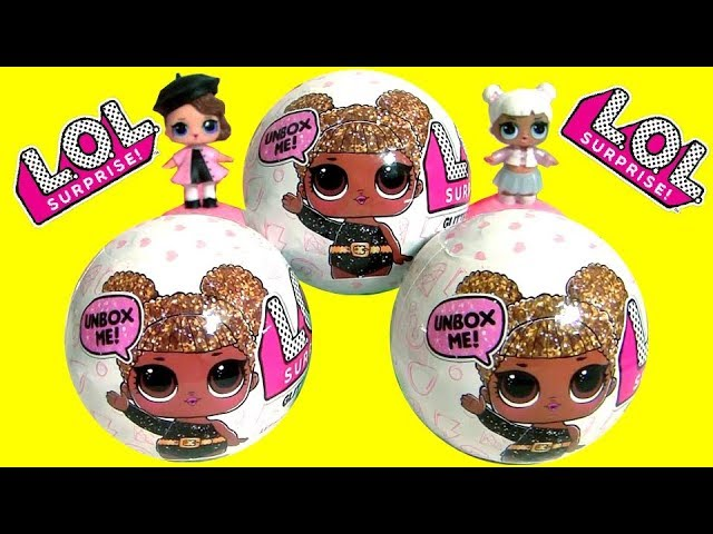 Surprise LOL Glitter Dolls LOL Lil Outrageous Littles Surprise Glitter Dolls by Fun Toys
