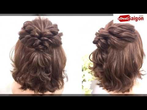 Tạo kiểu tóc cho cô dâu cực đẹp