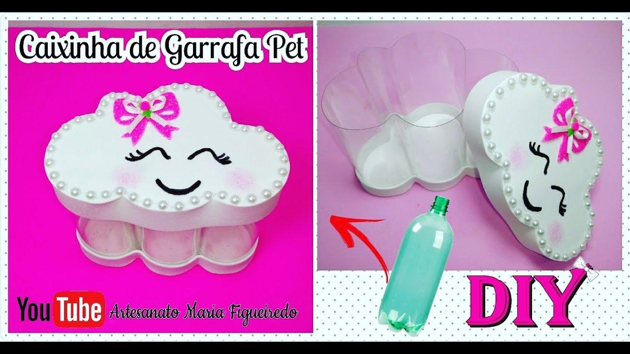 Caixinha De Garrafa Pet Em Formato De Nuvem Lembrancinha