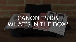 Canon TS305 What's in the box?