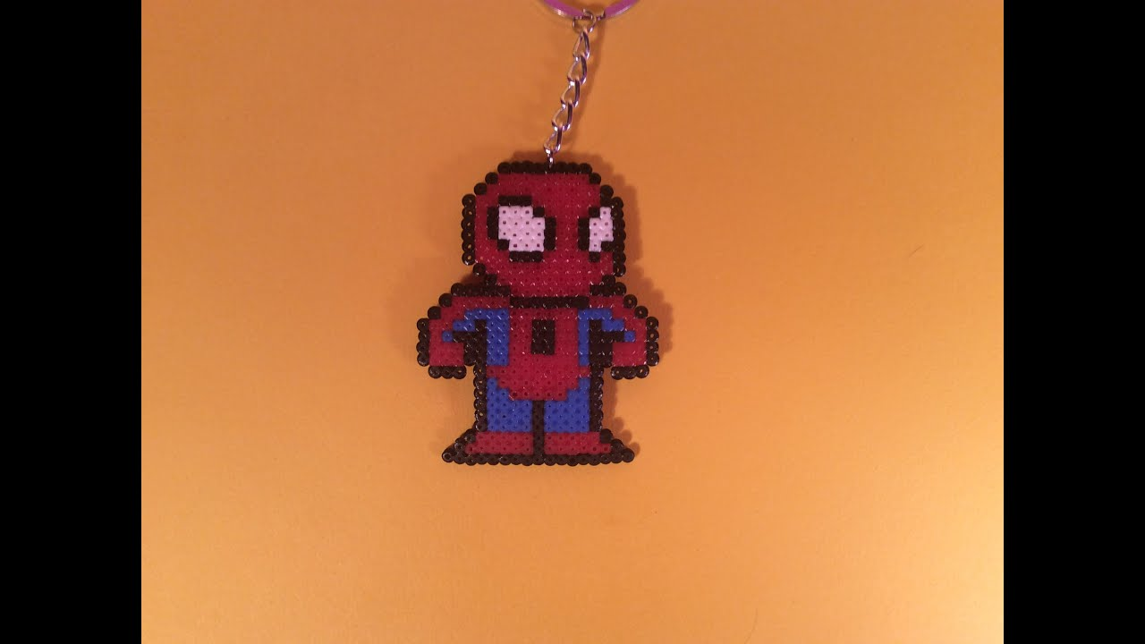 Hama Beads Spiderman: Como Hacer A SPIDERMAN Con Hama Beads Mini Fácil Y
