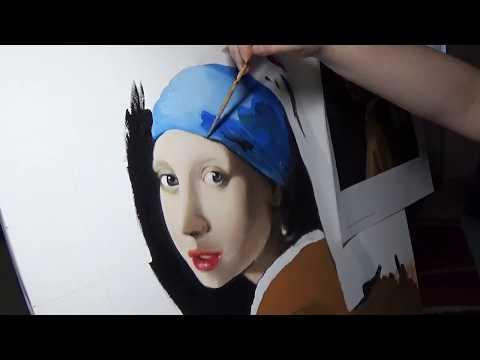 Ragazza con l'orecchino di perla/Girl with a Pearl Earring - Speed Painting