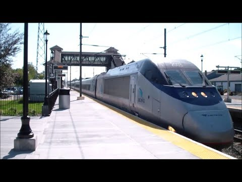 Amtrak: High-Speed (150 mph) Acela Express Trains Passing Through Kingston, RI