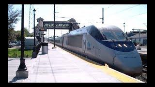 Amtrak: High-Speed (150 mph) Acela Express Trains Passing Through Kingston, RI